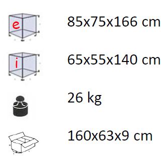 Caratteristiche Voliera Damo Mod. 511