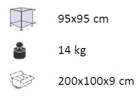 Caratteristiche Pannello Quadrato Rete